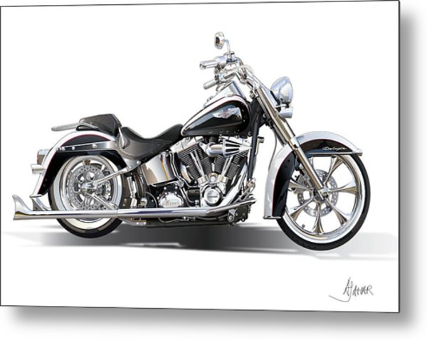 Harley Bike Metal Print