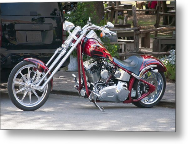 Harley Chopped Metal Print