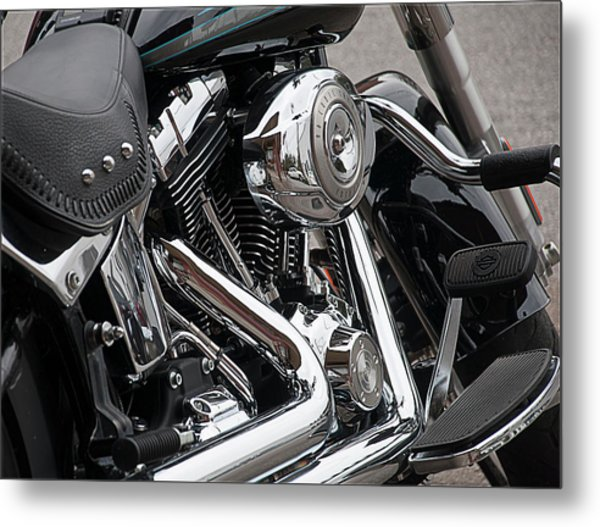 Harley Chrome Metal Print