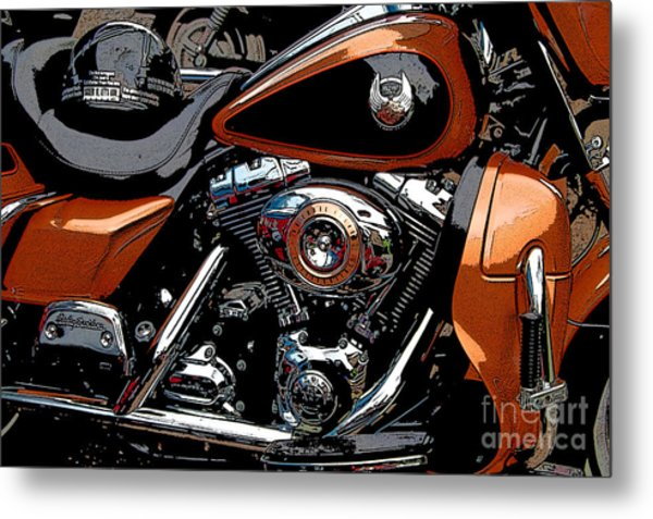 Leather And Chrome Metal Print