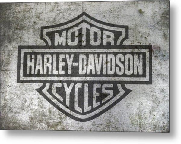 Harley Davidson Logo On Metal Metal Print
