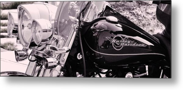 Harley Davidson Road King  Motorcycle Metal Print by Lisa  DiFruscio
