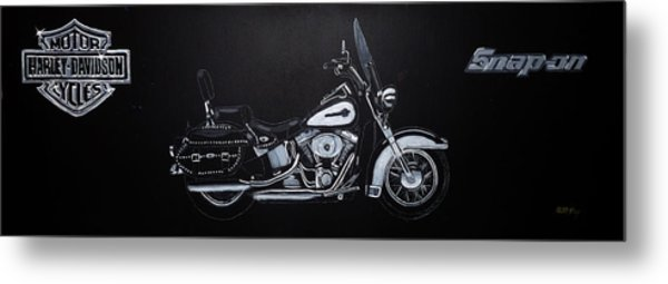 Harley Davidson Snap-on Metal Print