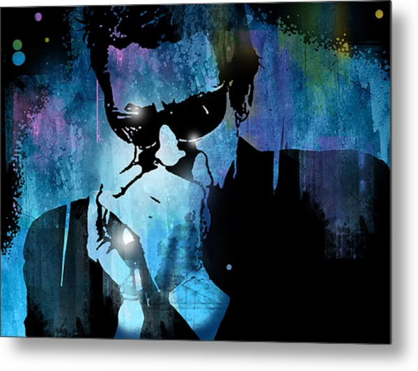 Harmonica Blues Metal Print