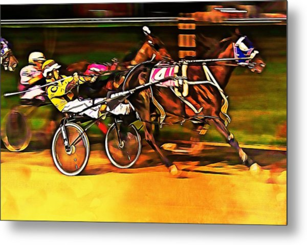 Harness Race #2 Metal Print