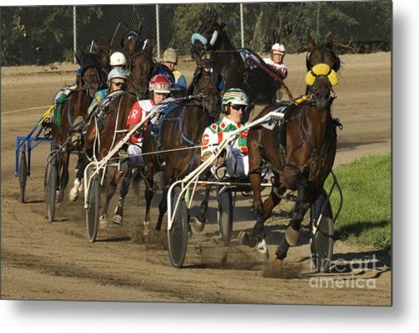 Harness Racing 9 Metal Print