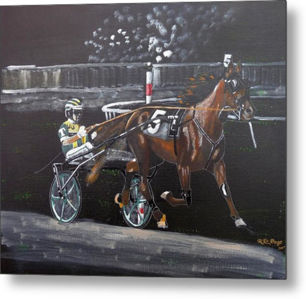 Harness Racing Metal Print