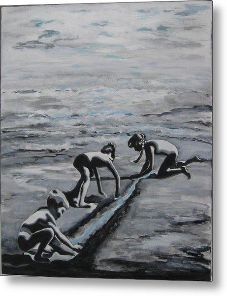 Harnessing The Ocean Metal Print by Naomi Gerrard