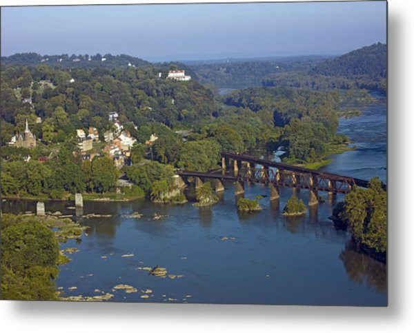 Harpers Ferry West Virginia From Above Metal Print