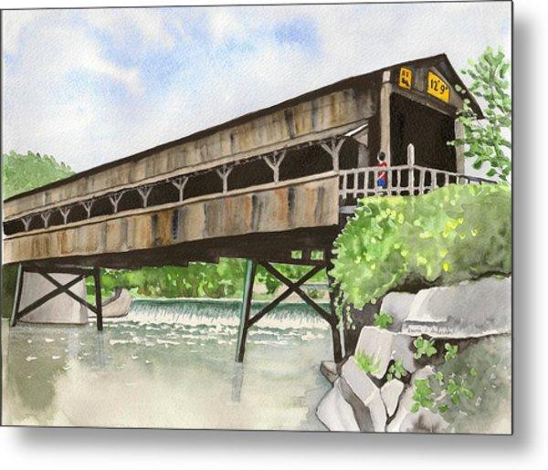 Harpersfield Bridge Metal Print
