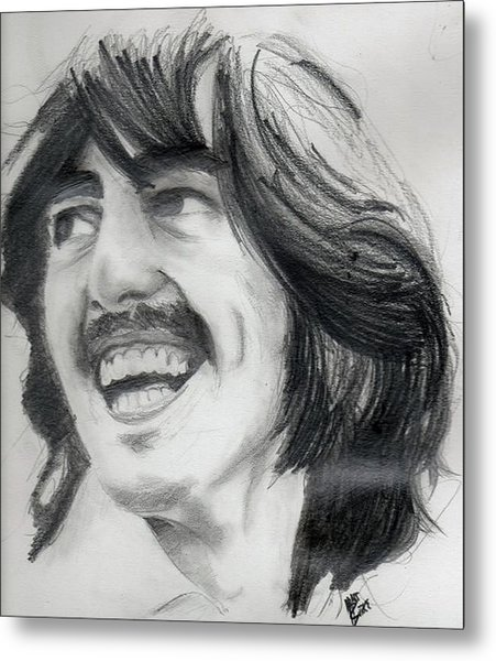 Harrison's Smile Metal Print
