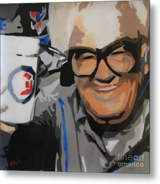 Harry Caray Metal Print
