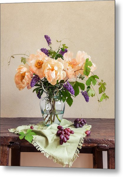 Harvest Bouquet Metal Print