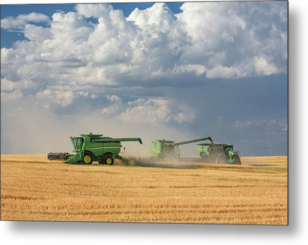 Harvest Clouds Metal Print