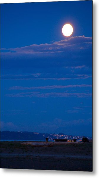 Harvest Moon Metal Print by Paul Kloschinsky
