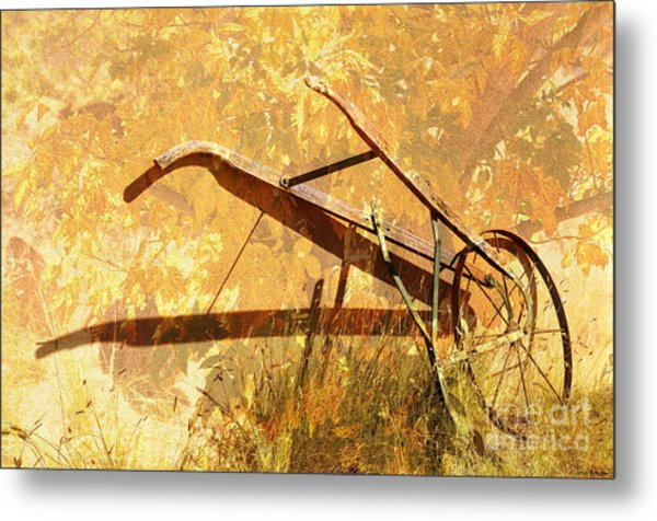 Harvest Plow Metal Print