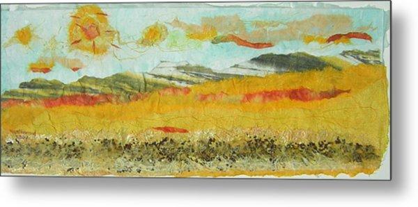 Harvest Time On The Prairies Metal Print by Naomi Gerrard