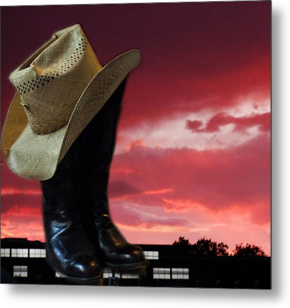 Hat N Boots 11 Metal Print by Chuck Shafer