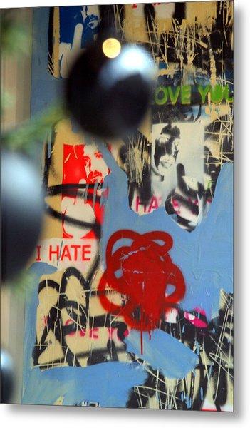 Hate Love Hate Love Metal Print by Jez C Self