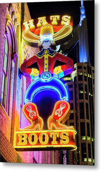 Hats And Boots Metal Print