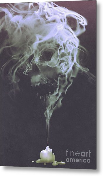 Haunted Smoke  Metal Print