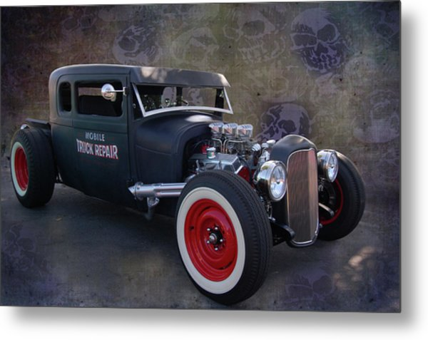 Haunted Truck Repair Metal Print