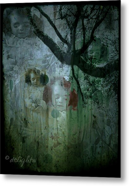 Metal Print featuring the digital art Haunting by Delight Worthyn