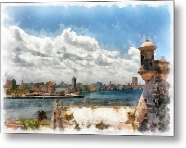 Havana From El Morro Metal Print