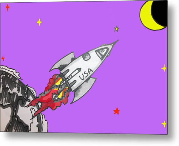 Have Spacesuit Will Travel Metal Print