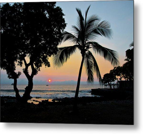 Hawaiian Big Island Sunset  Kailua Kona  Big Island  Hawaii Metal Print