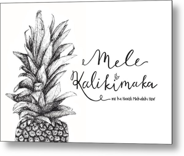 Hawaiian Christmas Metal Print