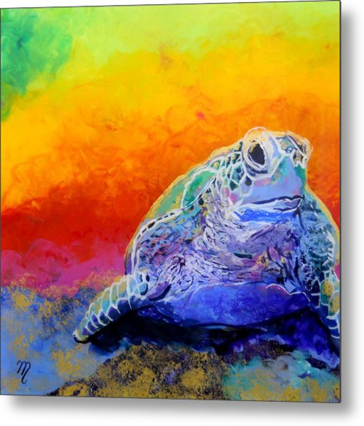 Hawaiian Honu 4 Metal Print