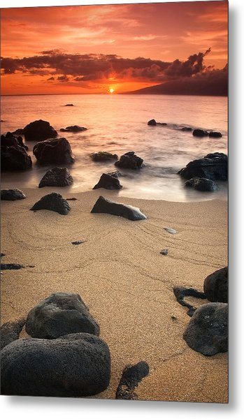 Hawaiian Sunset Metal Print by Nolan Nitschke