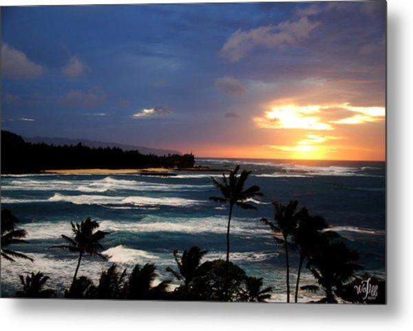 Hawaiin Sunset Metal Print by Thea Wolff
