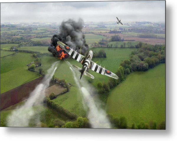 Metal Print featuring the photograph Hawker Typhoon Rocket Attack by Gary Eason