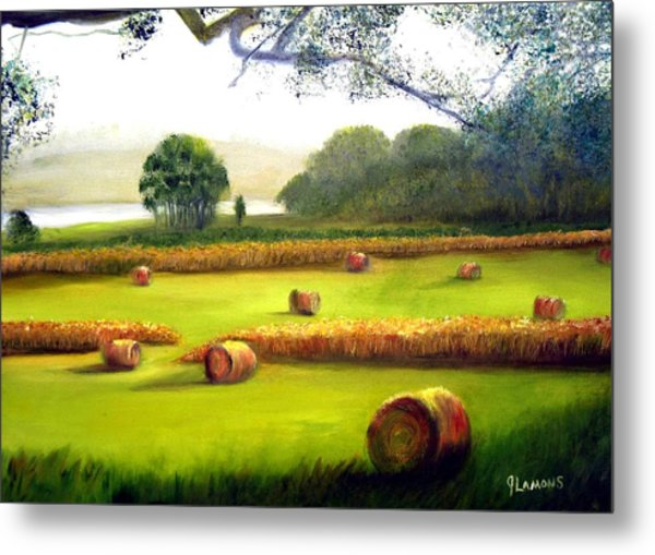 Hay Bales Metal Print by Julie Lamons