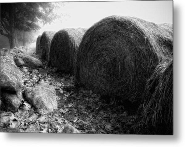Hay Bales Paxton Ma Metal Print by Richard Danek