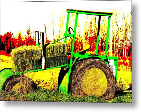 Hay It's A Tractor Metal Print