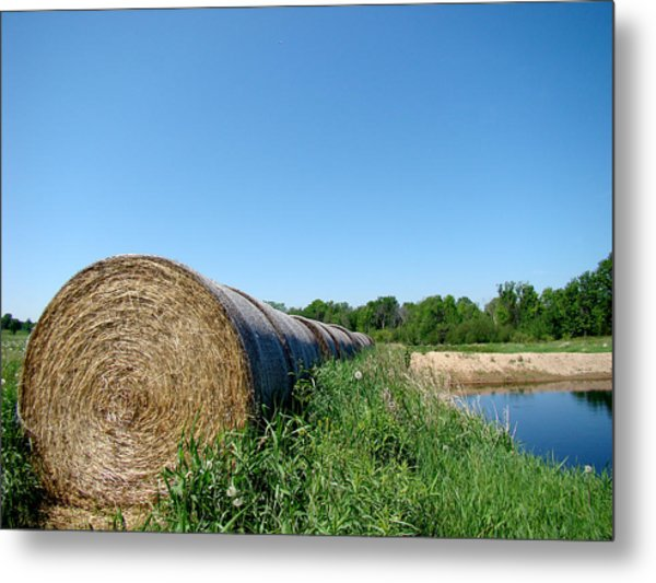 Hay Roll Metal Print by Todd Zabel