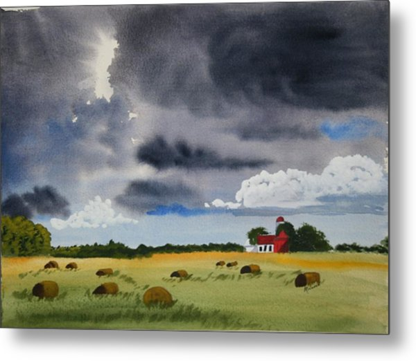 Haying Time Metal Print by Michele Turney