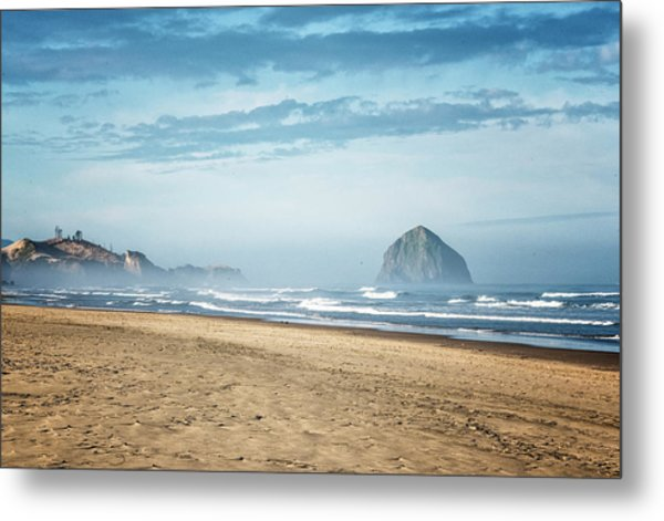 Haystack Rock Pacific City Metal Print