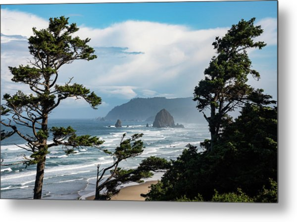 Haystack Views Metal Print