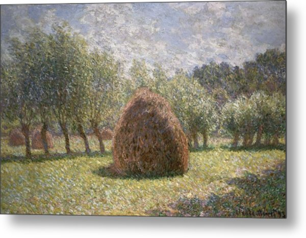 Haystacks At Giverny Metal Print