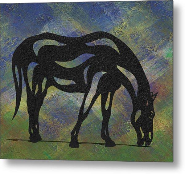 Hazel - Abstract Horse Metal Print
