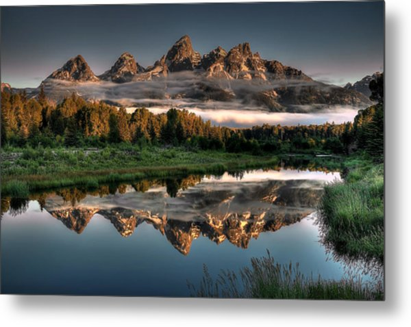 Hazy Reflections At Scwabacher Landing Metal Print
