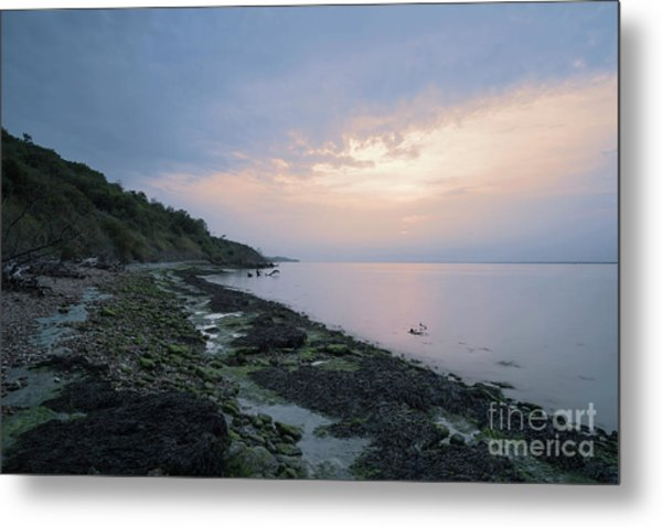 Hazy Sunset Metal Print
