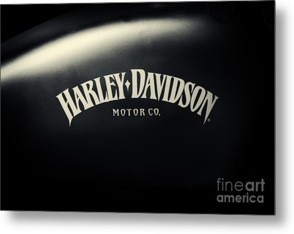 Hd Iron 883 Gas Tank Metal Print