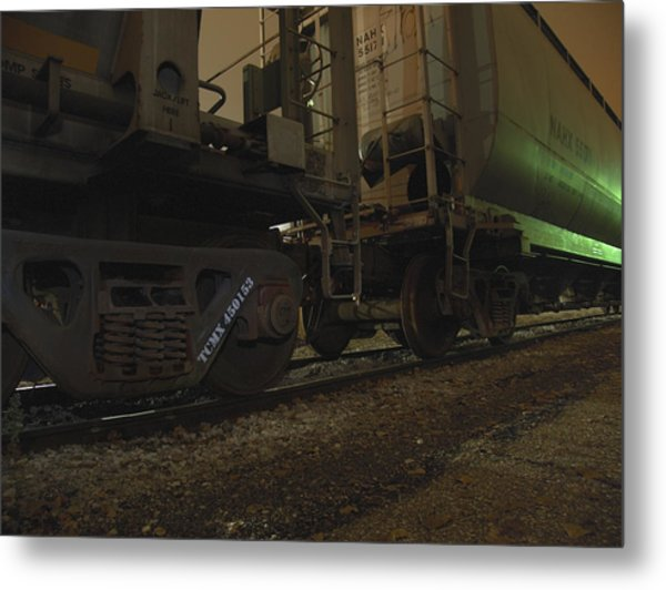 Hdr Rail Cars Metal Print by Scott Hovind