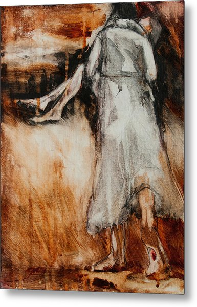 Metal Print featuring the painting He Walks With Me by Jani Freimann