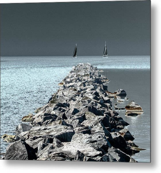 Headed For The Rocks Metal Print